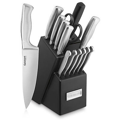 Cuisinart Stainless Steel Hollow Handle 15-Piece Cutlery Knife Block Set
