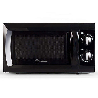 Westinghouse 0.6 Cubic Foot 600 Watt Kitchen Counter Top Microwave Oven, Black