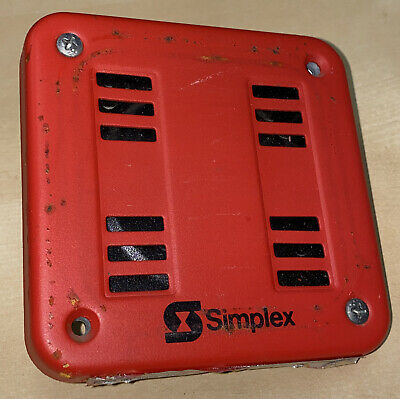 Simplex 2901-9838 Fire Alarm Horn Wall Red
