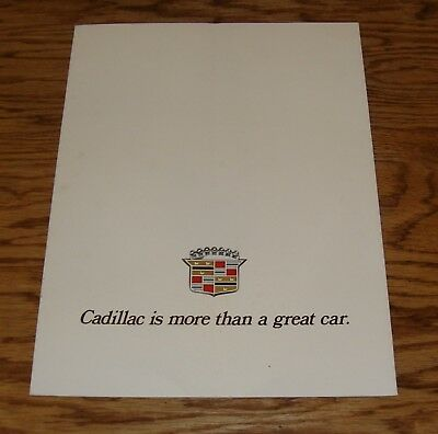 """Original 1972 Cadillac Full Line """"10 Great Cars"""" Deluxe Foldout Sales Brochure"""