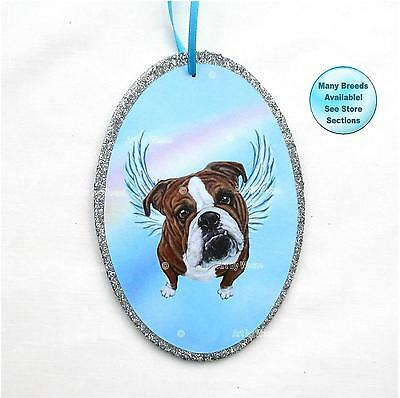Bulldog Angel Ornament Dog Memorial Christmas Ornament