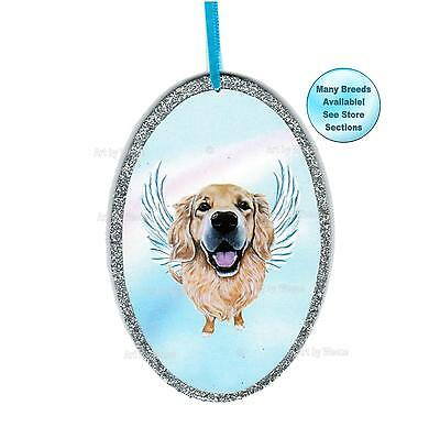 Golden Retriever Angel Ornament Dog With Wings Dog Memorial Christmas Ornament