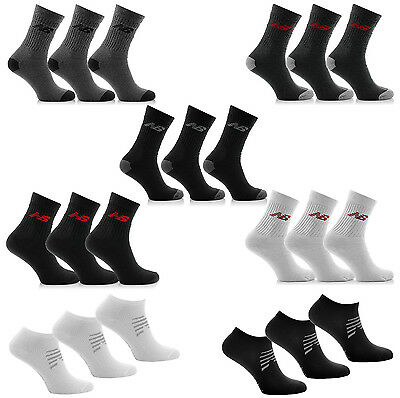 Neu NEW BALANCE SOCKEN 3 Paar Unisex Sneaker Sportsocken 35-38  39-42