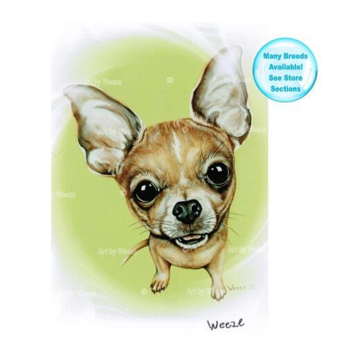 Chihuahua Art Dog Print Pet Portrait Picture