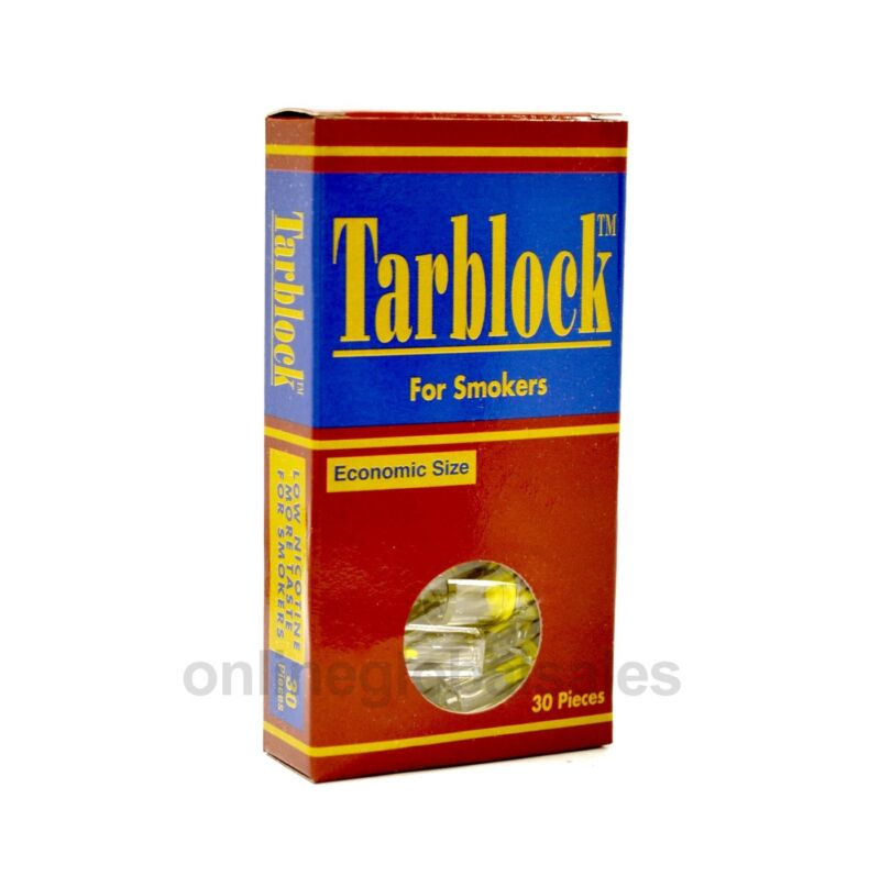 TARBLOCK Disposable Cigarette Filter Tips (30 filters) Remove tar & nicotine,out