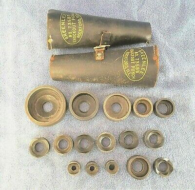 Greenlee Blackhawk Enerpac Knockout Punch Die Lot 18 Pieces