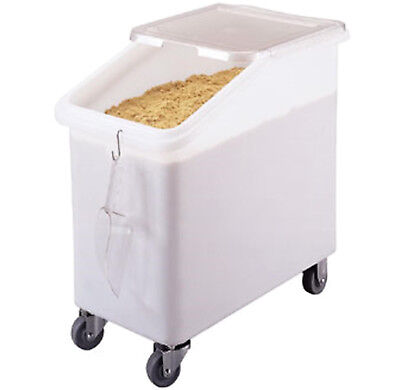 Cambro 27 Gallon Commercial Mobile Dry Ingredient Bin Food Storage Casters