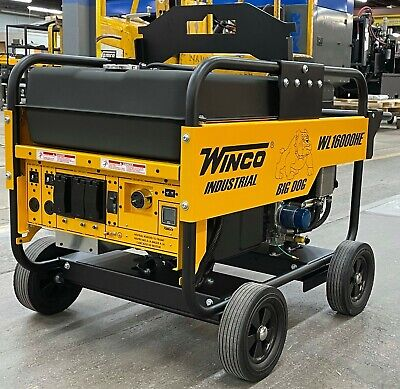 Winco Wl16000he 14kw Running 12020v 1ph Portable Generator Key Start Wheel Kit