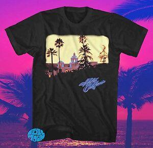 New-The-Eagles-Hotel-California-Authentic-Retro-Vintage-Mens-Black-T-Shirt