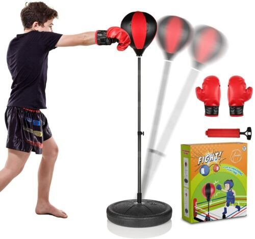 UNINETIC Punching Bag for Kids with Boxing Gloves   3-8 Years Old Adjustable Kid