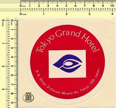 #065 Tokyo Grand Hotel Japan vintage sticker original old luggage label