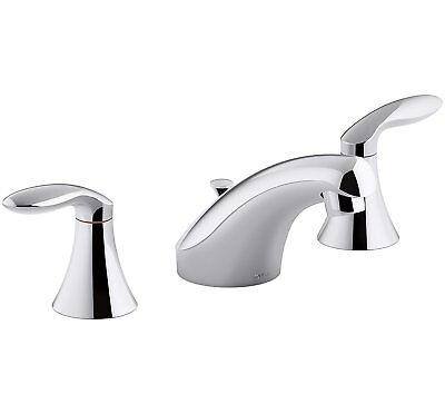 Kohler K-P15261-4-CP Coralais Widespread Bathroom Sink Faucet w/ Lever Handles Coralais Widespread Bathroom Faucet