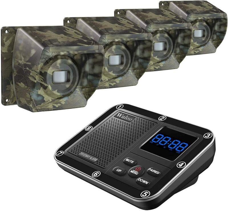 Wuloo Wireless Driveway Alarms 1800ft Long Range Motion Sensor Driveway Sensors