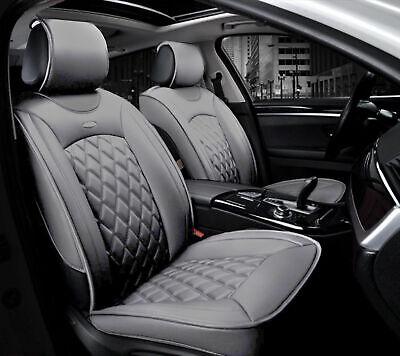1+1 eleganter Autositzbezug Grau Sitzbezüge Kunstleder Schonbezüge