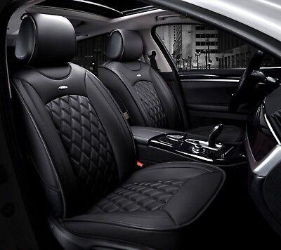 2x Autositzbezug Vordere Sitzbezüge Schwarz Komfort Kunstleder Hochwertig