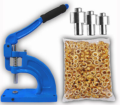 Hand Press Grommet Machine 900 Grommets 3 Dies 0 2 4 Starter Kit Banner New