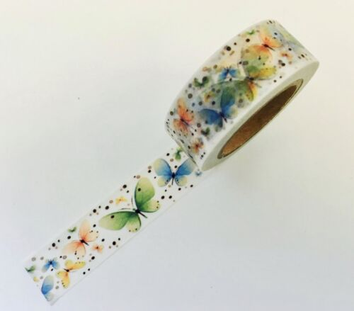 Spring Colorful Butterflies  Washi Tape Papercraft Planner Supply Scrapbook