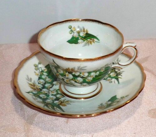 Rosina LILY OF THE VALLEY Cup & Saucer Bone China England