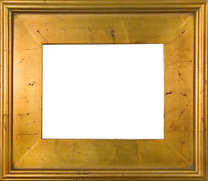 PICTURE-FRAME-WOOD-PLEIN-AIR-GOLD-RED-DISTRESS-3-3-8-WIDE-VARIETY-OF-SIZES