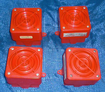 4 Pc Lot 950f Federal Signal Corp Fire Signaling Horn Speakers Atlas Sound Vgc