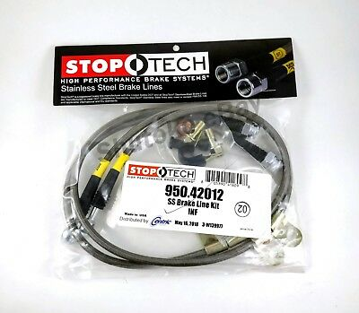 STOPTECH STAINLESS STEEL BRAIDED FRONT BRAKE LINES FOR 14 15 INFINITI Q60 ALL