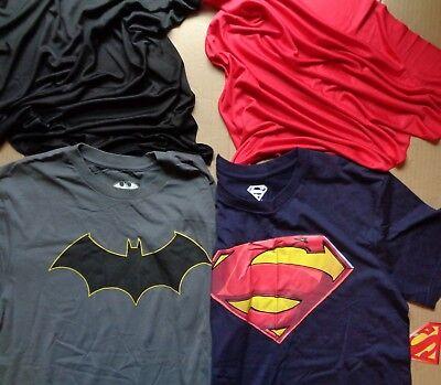 Superman Cape For Men (DC Comics Batman V Superman Justice League Costume Cape T Shirt Mens S-2XL)