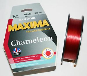 Maxima chameleon red fishing line 600m bulk spools ebay for Maxima fishing line