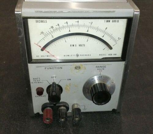 HP 403B RMS Voltmeter 0-300 Volts -60 to +50 dB