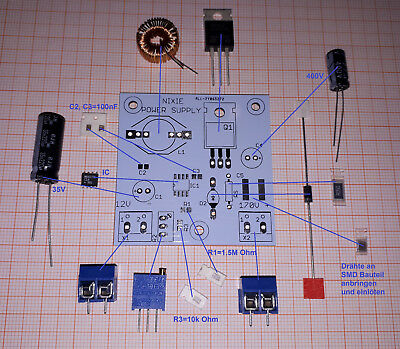 12V 16V AUF 170V 180V HV BOOST KIT F R FOR NIXIE UHR CLOCK DIY PLATINE PCB