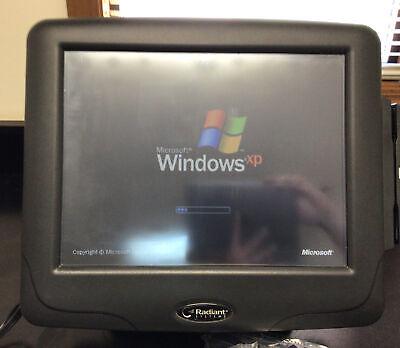 Radiant Systems Touchscreen Pos Terminal W Card Swipe Windows Xp P1515