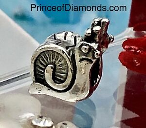 Silver coloured snail bead fits pandora bracelet