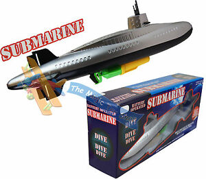 Large Battery Operated Submarine Bath Time Bath Paddling Pool Toy