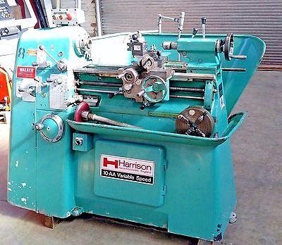 Harrison 10-aa Engine Toolroom Lathe Wtoolpost 3 4 Jaw Chuck Lots Of Extras