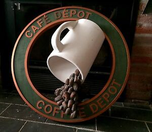 Rare Vintage 3-D Coffee Depot store advertising sign Montreal