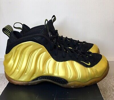 Nike Foamposite One Electrolime Yellow & Black Men's Basketball Shoes Size 8