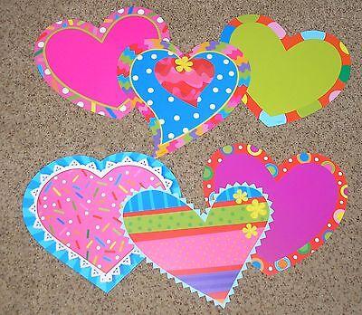 Jumbo Bulletin Board - Teacher Resource: 6 Jumbo Heart Bulletin Board Accents - 11