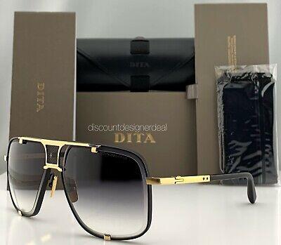 DITA MACH FIVE Sunglasses Black Gold Gray Gradient Lens DRX-2087-A-BLK-GLD 64mm