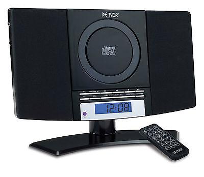 CD Player Denver MC-5220 Black Music System Mini Micro Hifi Wall Mountable