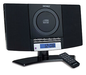 MC-5220 Black Mini System Stereo CD Player Aux-In Compact Hifi Music Audio