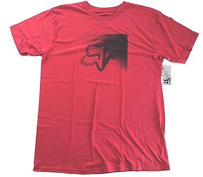 $28 NEW FOX RACING SCANNER PREMIUM TEE T SHIRT RED LARGE code H153