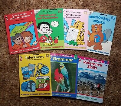 7 Frank Schaffer Reading and Language Workbooks. Homeschool Workbooks. Frank Schaffer Reading