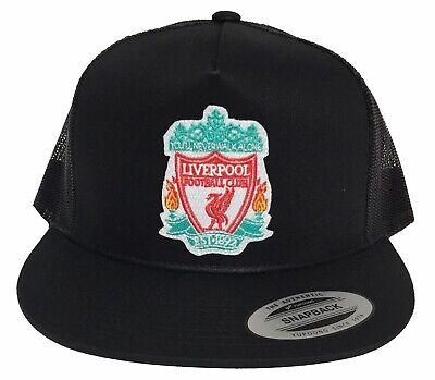 - LIVERPOOL FC SOCCER HAT BLACK MESH SNAPBACK ADJUSTABLE NEW HAT
