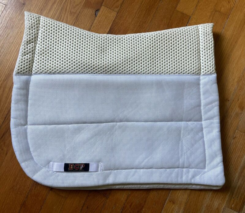 ECP Equine Comfort Products Grip Tech Dressage Saddle Pad White