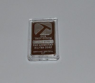 PAN AMERICAN - .999 FINE SILVER PLATED BAR ONE TROY OUNCE