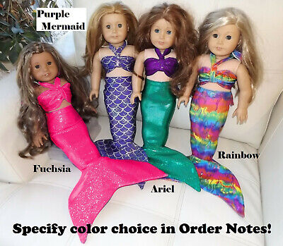 Mermaid Tail Outfit made to fit American Girl mermaid 18