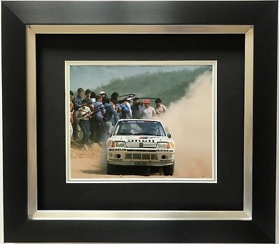 TIMO SALONEN HAND SIGNED FRAMED PHOTO DISPLAY PEUGEOT RALLY 1.