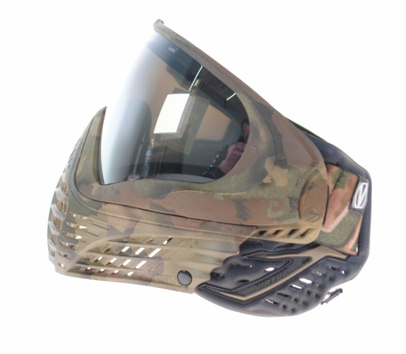 Used Virtue VIO Contour 2 Paintball Mask Goggle w/ Box - Brush Camo