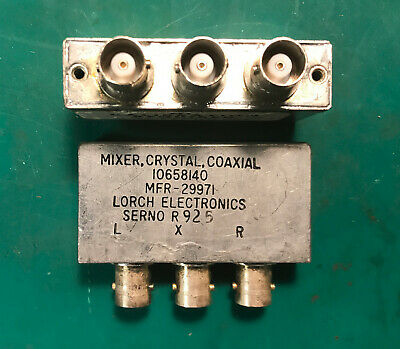 Lorch Electronics Coaxial Mixer Crystal 0.5-500mhz 10658140 Bncf Rf Microwave