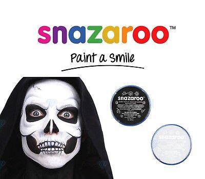 Snazaroo SKELETON Halloween Set Black & White & Face & Body Paint Make Up Top](Halloween Skeleton Body Paint)