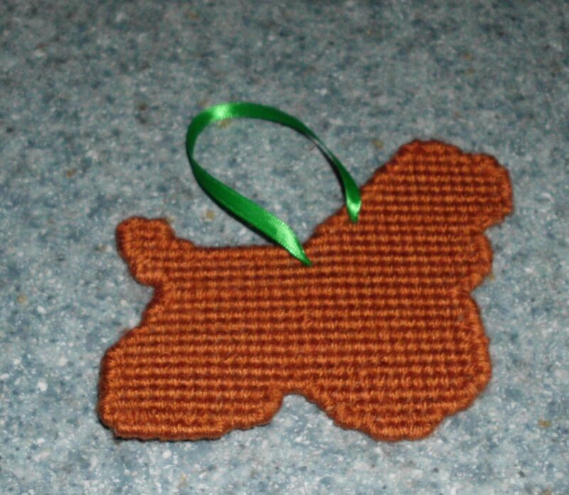 Brand New Needlepoint Red Cocker Spaniel Christmas Ornament Dog Rescue Charity